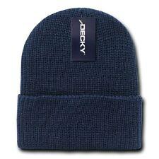 Navy Blue Watch Cap Beanie Hat Ski Military Warm Winter Cuff Knit Hats Beanies