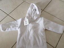 Gilet/Veste à capuche blanc unisexe 9 mois Kimbaloo NEUF(étiquette)