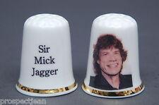 Musical Knights Rolling Stone 'Sir Mick Jagger' China Thimble B/137