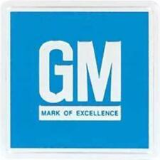 Embossed Blue GM Mark of Excellence Driver Door Jamb Reflector Decal 3M Adhesive