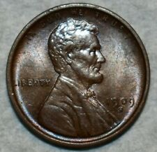 Brilliant Uncirculated 1909-S Lincoln Cent, Sharp, lightly toned specimen.