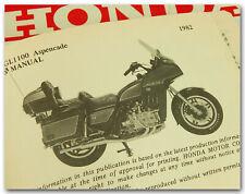 GENUINE HONDA 1982 GL1100A GL1100 GOLDWING ASPENCADE OWNER'S MANUAL GOOD USED