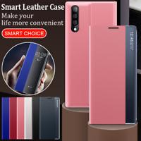 Funda con tapa de cuero Smart View Window Flip Para Samsung A50 A70 A30S A20 A10