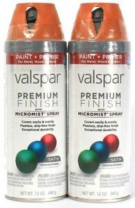 2 Cans Valspar 12 Oz Premium Finish 85202 Satin La Fonda Copper Micro Mist