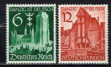 Germany Danzig united with Third Reich set 1939 492-93 MLH