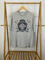 VTG 90s Tee Jays Men's Colorado Rockies MLB Single Stitch T-Shirt Size XL USA
