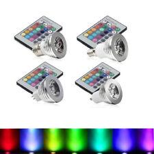 3W E27/GU10 /MR16 LED RGB Magic Light 16 Color Globe Bulb+IR Remote Control
