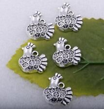 Wholesale 15pcs Tibetan silver lovely chicken Charms pendant craft 17x15mm #5562