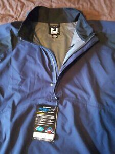 FOOTJOY Dryjoys Hydrolite Half Zip Blue/Black Men's XL Rain Jacket NEW!