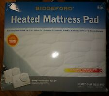 Biddeford Quilted Heated Mattress Pad California CAL King NEW Dual Auto off Cont