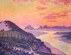 Sunset At Ambleteuse Theo van Rysselberghe Landscape Fine Art Print on Canvas SM