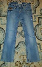 """MEK DENIM Women AUSTIN Distressed Boot Cut Denim Jeans 26""""W x 34""""L"""