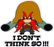 """Yosemite Sam Decal is 4"""" x 5"""" in size"""