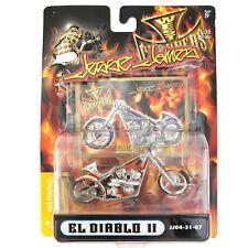 Jesse James West Coast Chopper EL DIABLO II Custom Motorcycle Bike Orange 1/31