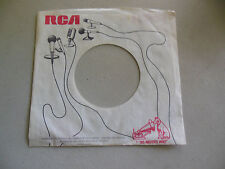 master voice RCA VICTOR DOG LOGO MICROPHONE  45 record company sleeve only    45