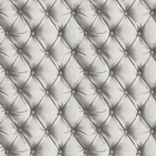 DESIRE CHESTERFIELD LEATHER EFFECT WALLPAPER SILVER - ARTHOUSE 618104