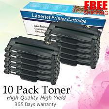 10 Pack MLT-D105L Black Toner For Samsung ML-2525 SCX-4600 W SCX-4623F SF-650