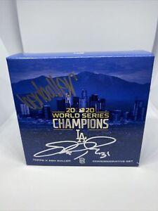 BEN BALLER 💎 JOC PEDERSON SILVER AUTO 15/31 2020 WORLD SERIES CHAMPIONS DODGERS