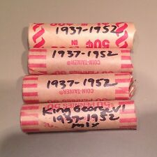 4 - Mixed date rolls King George VI - circulated - 1937-1952