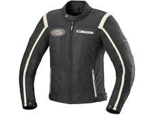 iXS Leather Jacket Shawn Black Beige Biker Jacket From Buffalo Leather