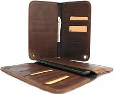 Genuine leather Case For Samsung Galaxy Note 2 book wallet closure cover slim uk