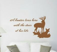Hunter Lives Here, Deer wall decal, Vinyl wall decal, Hunting, Outdoor, Buck