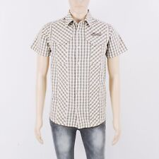 Animal Mens Size S Brown Check Short Sleeve Shirt
