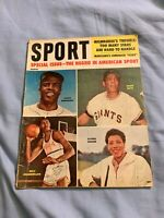 Sport Magazine March 1960 The Negro In American Spot Jackie Robinson Willie Mays