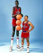 MANUTE BOL & MUGGSY BOGUES 8X10 PHOTO WASHINGTON WIZARDS BASKETBALL NBA