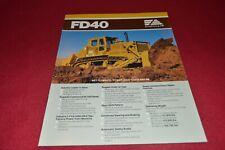 Fiat Allis Chalmers FD40 Crawler Tractor Dealer's Brochure YABE18