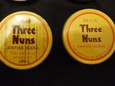 VINTAGE BELL'S 'Three Nuns' x2 Yellow Tins (Empty) Empire Blend for 1oz/25 gr ea