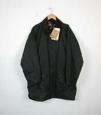 NWT Barbour Mens Border Waxed Cotton Jacket Green Size 40 Winter Tartan RRP £249