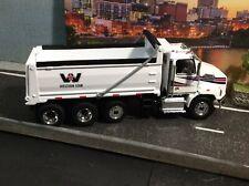Diecast Masters 1:50 Scale Western Star 4700 SB Three Axle Dump Truck - White/Wh