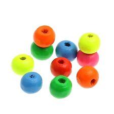 40 perles en bois brillant 8mm couleur mixte 8 mm perle, bijoux, bracelet