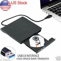 Slim External USB 3.0 DVD RW CD Writer Drive Burner Reader Player For PC Laptop