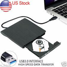 Slim External USB 3.0 DVD RW CD Writer Drive Burner Reader Player For Laptop UK