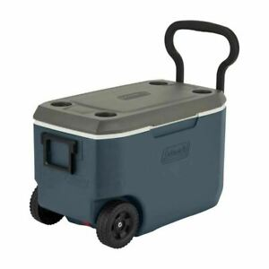 Coleman 62 Quart Xtreme 5 Day Heavy Duty Cooler with Wheels, Slate