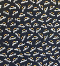Los Angeles Chargers NFL Cotton Fabric Sold by the Yard