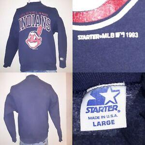 VINTAGE Starter 90s Cleveland Indians Sweatshirt MLB Baseball Chief Wahoo