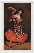 """LE FANDANGO"": Glamour postcard by Schmutzler (C13374)"