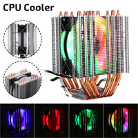 CPU Cooler 6 Heatpipes RGB 4Pin Fan Cooling For 775 AMD 1150 1151 1155 1156 1366
