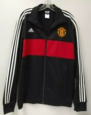 Adidas Men Manchester United Jacket Red Black Full Zip Track XL Mens