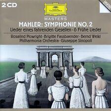 MAHLER : SYMPHONIE NR. 2 - 6 FRÜHE LIEDER U.A., PO - SINOPOLI / 2 CD-SET