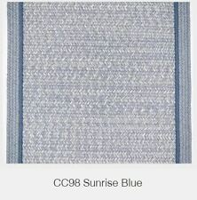 Casual Comfort Bordered Wool Country Classic Braided Rug Sunrise Blue CC98