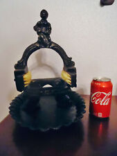 Vintage Victorian Cast Iron Boot Scraper Shoe Cleaner,Dolphins On Bottom,Man,Top