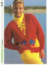 PIMENTO knitting pattern, cardigan - Marshall Cavendish pamphlet FF41