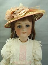 Fabulous Ernst Heubach Antique large bisque head doll & antique dress