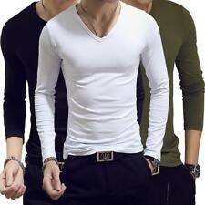 Men's Tee Shirt Slim Fit V/Crew Neck Short Sleeve Muscle Casual Tops T-Shirts JJ