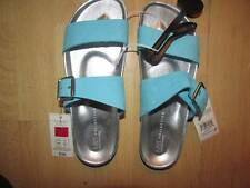 SIZE 8 TURQUOISE SANDALS MARKS AND SPENCER FREEPOST