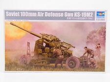 Lot 16928 Trumpeter 02349 Soviet 100 mm AIR DEFENSE GUN ks-19m2 1:35 Kit NEUF